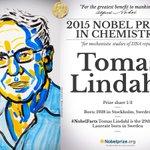 Swedish Tomas Lindahl 1/3 #NobelPrize in Chemsitry @TheCrick http://t.co/0rfzsWbaQz