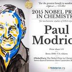 American Paul Modrich 1/3 #NobelPrize in Chemistry @HMINEWS @DukeU http://t.co/QAysde4VnD