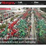 Volgens de politie waren er 10.000 betogers ... volgens #DeMorgen 20.000. ;) http://t.co/CVs4UDcYdJ