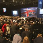 Standing ovation before she speaks: @RuthDavidsonMSP already a Tory favourite #CPC15 http://t.co/s604y5H2rV