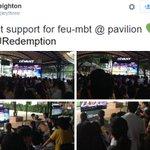 FEU students at the FEU-Pavillion #FEURedemption http://t.co/9VbUWPFC5L