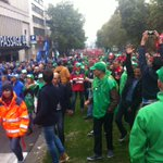 """""""Nous on dira quon était 80.000 et la police dira 50.000"""" #manif7oct #Bruxelles #enmarche @lalibrebe http://t.co/vZVuxEWnHV"""