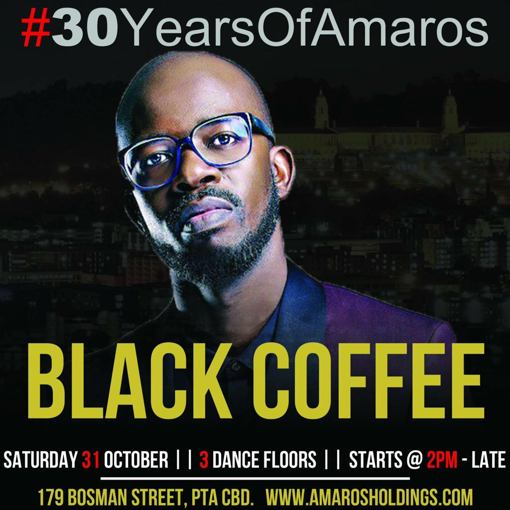 #30YearsOfAmaros 31 October with @RealBlackCoffee http://t.co/FNTAfU2A8W