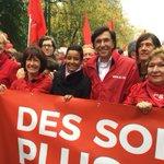 Samen met @MeryameKitir. @PSofficiel et @sp_a mobilisés pour la #manif7oct. #PSsolidaire http://t.co/Dmr0eWDKO2