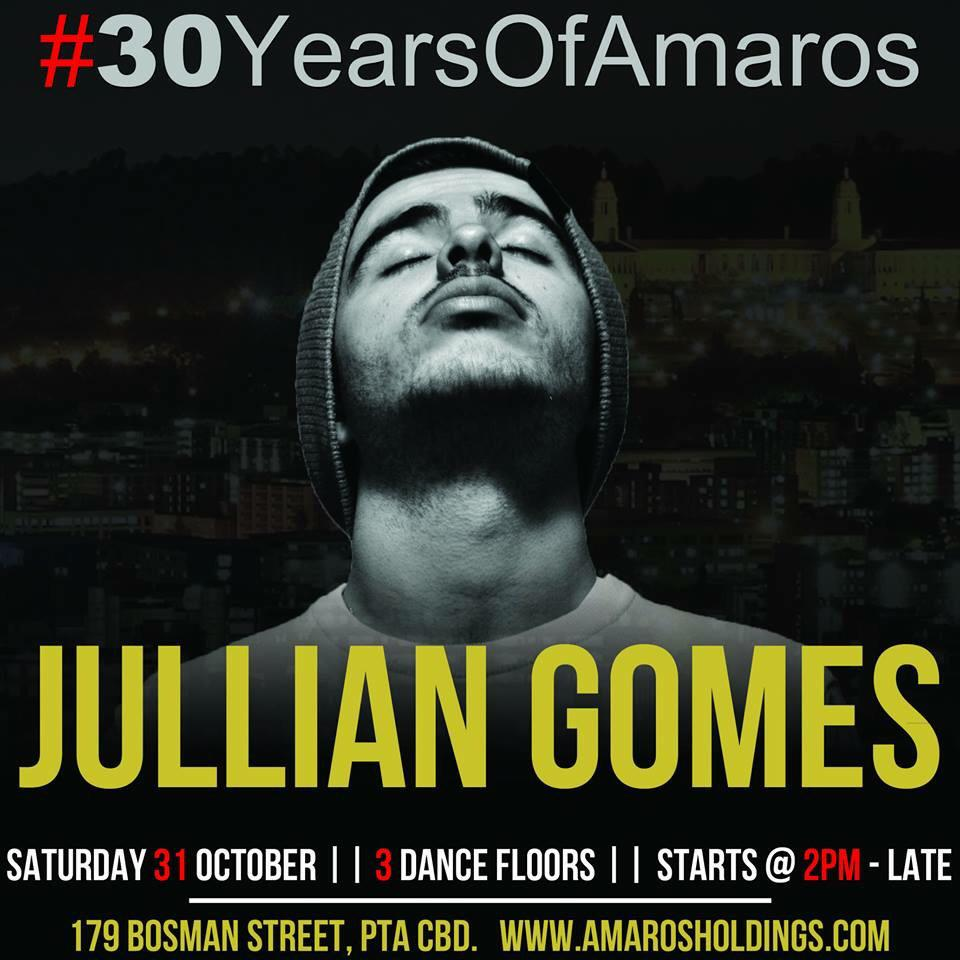 #30YearsOfAmaros 31 October with @JULLiAN_GOMES http://t.co/u6koltU0Yu
