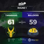 #FEURedemption! FEU completes Round 1 with a victory over NU Bulldogs 61-59. FEU now joins UST at the No. 1 Spot. http://t.co/a97EIZvTC2