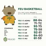 FEU Basketball: FEU completes Round 1 with a 6-1 win-loss record. #BeBrave http://t.co/79mB3bjt71