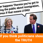 Theresa Mays been caught out - lying in a speech to stock the fire over immigration. http://t.co/Vw1YwyUrUk http://t.co/6aztSziY1X