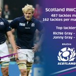 .@Scotlandteam have made more tackles than any other nation in #RWC2015. #AsOne http://t.co/IiNZMnbOLP
