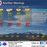 Talk about a #Warming trend #LasVegas! More details on #KTNV GMLV right now! http://t.co/JDeZS8Dlsh
