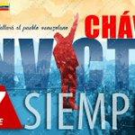 Ntro Cmdt. Chávez será por siempre Invicto y su legado se mantiene vivo gracias al pueblo y al Pdte. @NicolasMaduro http://t.co/VD5CXrvEYe