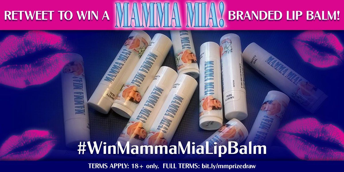 RETWEET to enter to win a #MammaMiaMusical branded lip balm!