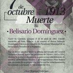 #EfemérideDelDía Conmemoración del sacrificio del senador Belisario Domínguez, (1863-1913) @Manzur_Jose http://t.co/pKo0mk8ttP