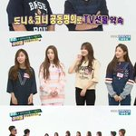 Lovelyz get a TV from Weekly Idols Jung Hyung Don and Defconn http://t.co/xL6rf11Q2D http://t.co/GtLQdCFqrX
