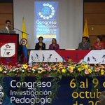 Rector UPTC Gustavo Alvarez instala Congreso de Investigación y Pedagogía en el Centro de Convenciones. @DinUptc http://t.co/uJ6Sj01pyA