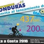 Están todos invitados al lanzamiento de #CostaACosta, la vuelta ciclística que apoya la educación en #Honduras http://t.co/EOs1OtvaxV