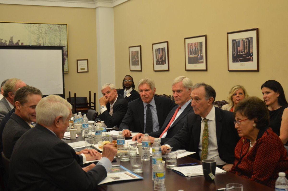 International Conservation tops agenda on Cap. Hill w/ith @ConservationOrg CEO @peter_seligmann, and Harrison Ford. http://t.co/WiM8eUXgOs