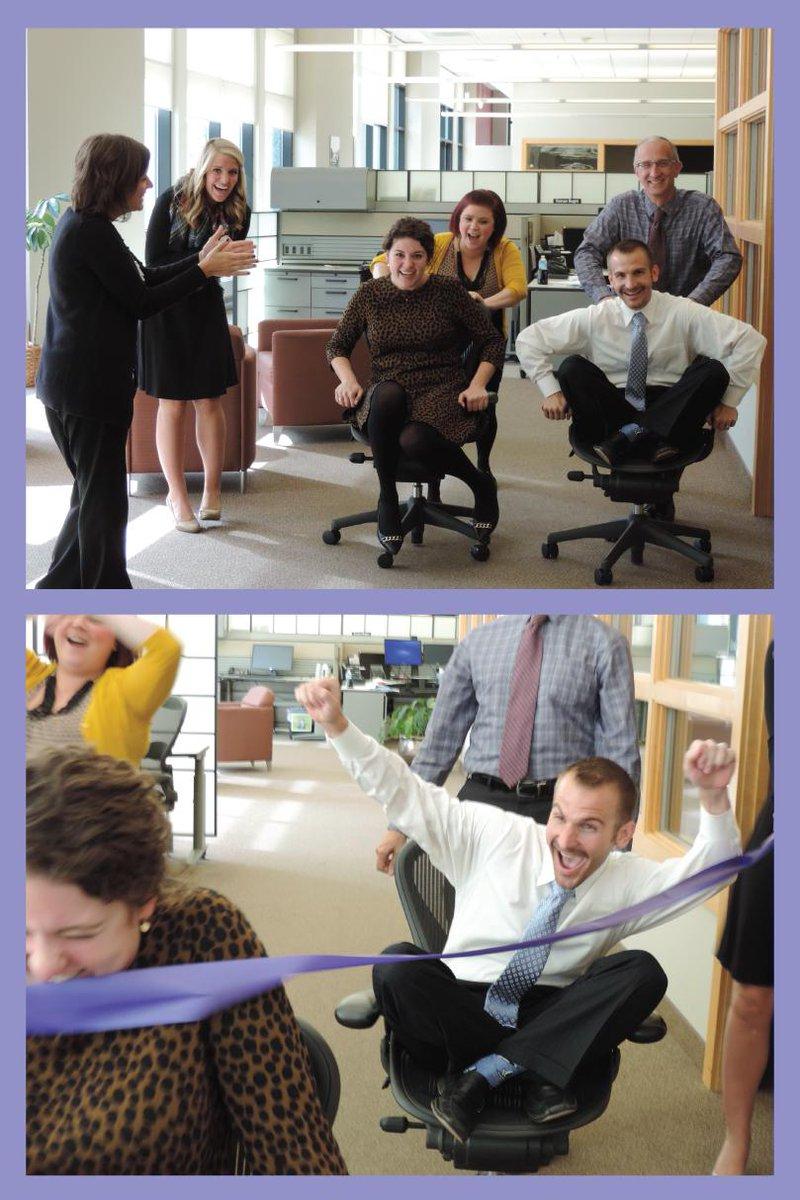 .@Bergit_SPACC & @lhutch024 raced @SPACC_Kramer & @jweinhagen on an office chairs today! @MNChildMuseum #PlayMoreMN http://t.co/xqGiXSUV0P