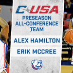 Congrats to Alex Hamilton & Erik McCree on being named @Conference_USA Preseason All-Conference Team! #DunkinDogs http://t.co/OO5RQtY5h4
