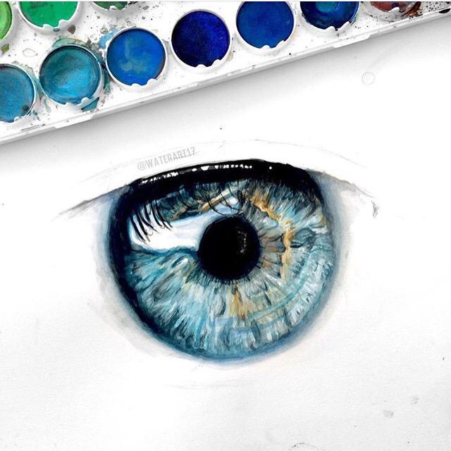 Глаза нарисованные синие