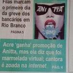 OLHA O MONSTRO QUE VOCÊ CRIOU @naosalvo VIROU ATÉ MANCHETE DE JORNAL AQUI EM RIO BRANCO http://t.co/BzJkHfFPZ0