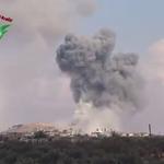 #Footage Multiple Russian air strikes on #KafrZita. https://t.co/CIZ9RoxUto #PutinAtWar #Syria http://t.co/72IPifO83e