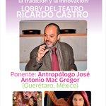 @iceddgo FESTIVAL LATINOAMERICANO DE ARPA DURANGO 2015 17 oct CONFERENCIA MAGISTRAL Lobby T. Ricardo Castro 18:00h http://t.co/7SrzA9jeyd