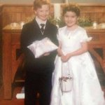AWW! A LOCAL flower girl/ring bearer who married yrs later. Victoria & James Pruitt from Henderson area, now in TX. http://t.co/WJR4fZg90M
