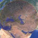 Куда могут дотянуться ракеты Каспийской флотилии. Радиус действия Черноморского флота даже показывать страшно. http://t.co/sDWCBdAh3u