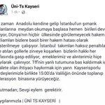 Yarın @KapaliKaleTD ile birlikte Adalet için Tff Kayseri şubesine protesto yürüşündeyiz ! http://t.co/RqVWKT37Th