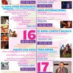 FESTIVAL LATINOAMERICANO DE ARPA DURANGO 2015, 7edición, en el marco del #FIR2015 Eventos del 16 de octubre http://t.co/2VCCKwnmfL