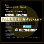 HASHTAG FOR OCTOBER 8 #ALDUB12thWeeksary http://t.co/Bxsst31uYv