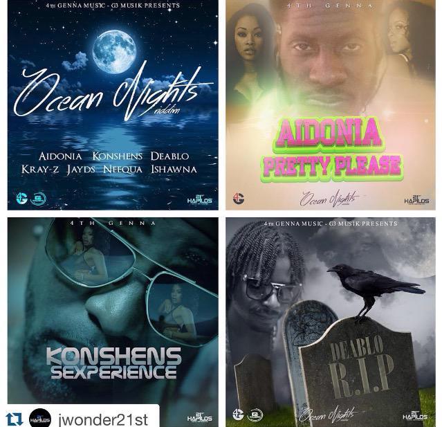 OceanNightsRiddim @G3musik @JWONDER21 #4thGennamusic @AIDONIAJOP @GOVANAGENNA @DiRealKray_Z @KonshensSojah @Ishawna http://t.co/k1hNpMbq3x