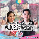 Happy #ALDUB12thWeeksary @aldenrichards02 and @mainedcm !! We are proud of you! ALDUB YOU BOTH! :) http://t.co/wsAo3kZ9yQ