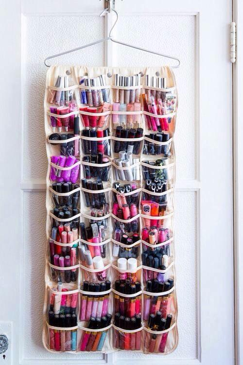 An inexpensive shoe organizer also doubles as a #makeup organizer for the #beauty obsessed. Trust us, we get you. http://t.co/7licDQn9jh