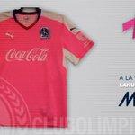 En apoyo a la lucha contra el Cáncer de Mama, Olimpia utilizará durante este mes un llamativo uniforme rosado. http://t.co/GPgkDUjNmV