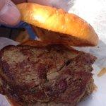 "Plain ribeye steak sandwich from @USIedu Varsity Club. They call it a ""naked cow"". @14News @ #fallfestevv http://t.co/Kp3gE2jRUW"