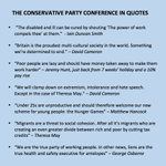 The Conservative Party conference in quotes. #CPC15 http://t.co/pSeRrqNRni