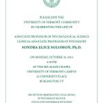 Please join the #UVM community in celebrating the life of Professor Sondra Elice Solomon http://t.co/sAp52eI4pW