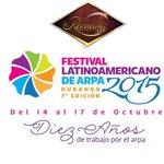 """Dentro del Marco del #FIR2015 """"FESTIVAL LATINOAMERICANO DE #ARPA #DURANGO 2015"""" del 14 al 17 de Octubre. ¡¡ESPÉRALO!! http://t.co/Jo9gYrDJZl"""