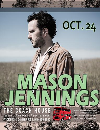 SoCal fans! RT for a chance to win tickets to Mason's show at @Coach_House on October 24!  Contest ends Friday. http://t.co/89flPl7KWH