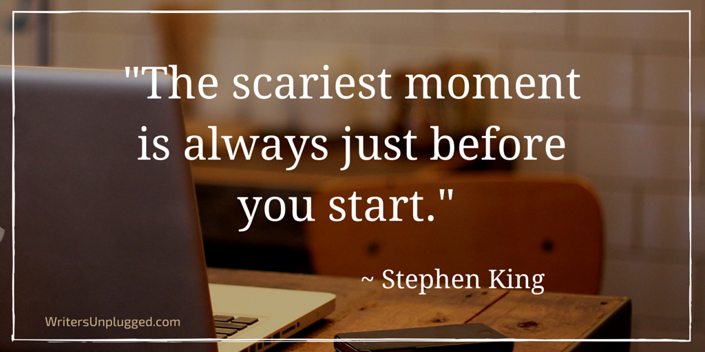 """The scariest moment is always just before you start."" ~ Stephen King #amwriting #author http://t.co/An4r02ktUm"