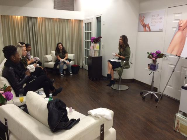 . @karunaskin Body Collection launch event today with #KarunaSkin Founder Linda Wang! http://t.co/P7yVyY4FpD