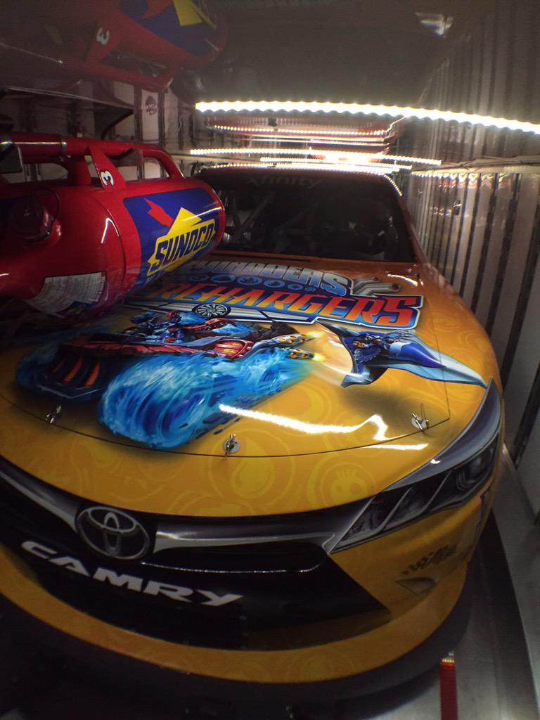 Loaded & ready for @erik_jones to supercharge the #BCBSNC300 @NASCAR_XFINITY race @CLTMotorSpdwy w/@SkylandersGame! http://t.co/rOB9NMR0qB