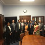 After meeting of Indian Parliamentarians with members of the House InternationalRelations Committee. Gr8 enthusiasm