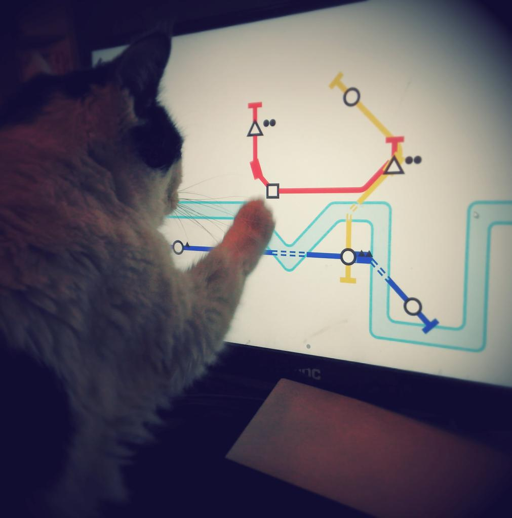 My kitty likes playing #minimetro as much as I do. That's how you know it's good. @dinopoloclub #kittytest http://t.co/Mz85qztuhh