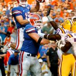 This Day in SEC History  9 years ago today, @TimTebow threw his 1st TD pass with the @FloridaGators. #TebowTime http://t.co/zUKohqHZk9