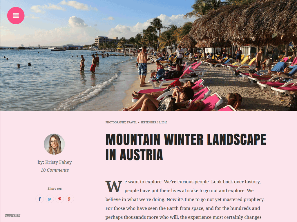 Pink is gorgeous! Match your personality for your #blog #WordPress #Theme http://t.co/Qk7q5SxF3G  #bbloggers http://t.co/fJuC50NHq1