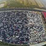 Massive traffic jam on Beijings 50-lane expressway as Golden Week holiday ends http://t.co/nNIDbfngnB http://t.co/FTMsHzstcB