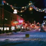 Christmas in the 1950s. Second Avenue in Fairbanks, Alaska. Photograph by W. Robert Moore. http://t.co/uxw4uGkDaq